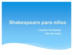 Spanish - SHAKESPEARE characters, plots by CatherinePaver | Teaching