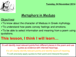 Analysis of Duffy's poem Medusa