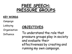 Campaigning & Pressure Groups assessment activity