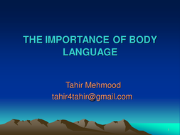 role of body language in communication