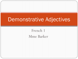 french demonstrative adjectives by gennybarker teaching resources