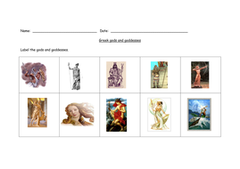 Gods and goddesses of Ancient Greece.