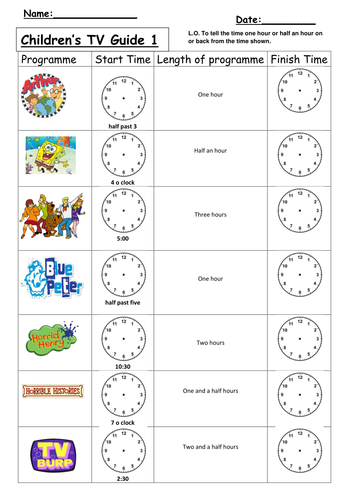 Time Worksheets time worksheets quarter past : Time later and before differentiated worksheets by clara5 ...
