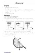 Clinometers Activity