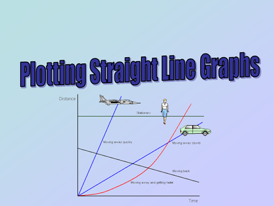 how to work out straight line graphs