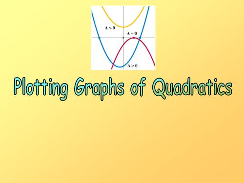 16) Plotting Quadratic Graphs.ppt