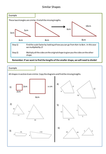 Worksheets Scale Factor Worksheets similar shapes worksheet scale factors by adz1991 teaching resources tes
