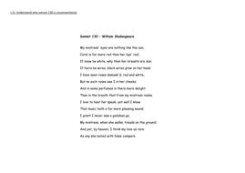 sonnet no 130