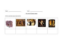 Ancient Greek Olympics Worksheet