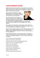 Justin Biebers Traum