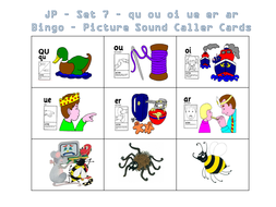 Jolly phonics bingo set 1 to 7 by saintannes teaching resources tes jolly phonics set 7 bingo picture and letter sound cardspptx spiritdancerdesigns Choice Image