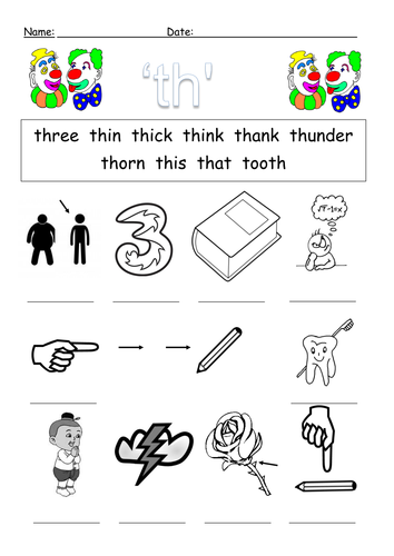 Worksheets Th Sound Worksheets th digraph worksheets by barang teaching resources tes