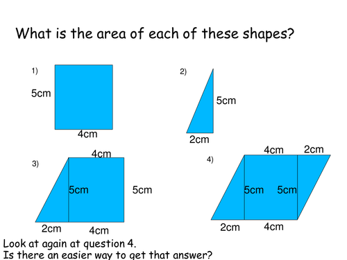 Area of a parallelogram and trapezium lesson by Jazzyfootsteps – Area of Parallelograms Worksheet