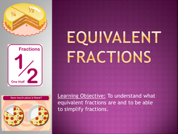 equivalent & improper fractions, mixed numbers