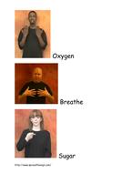 Respiration key words sign language