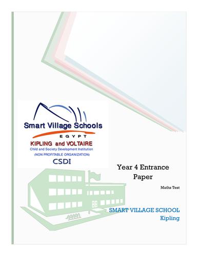 year 8 maths test pdf