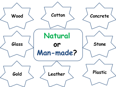 Manmade and Natural materials by taw2704  UK Teaching Resources