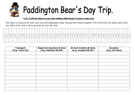 ks2 maths paddington bear timetable activity by selinaj teaching resources. Black Bedroom Furniture Sets. Home Design Ideas