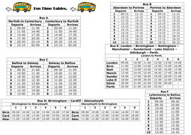 Bus Time Tables.doc
