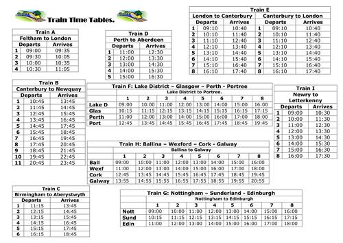 Number Names Worksheets timetable worksheets ks2 Free – Maths Timetable Worksheets