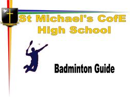 Badminton Shots booklet