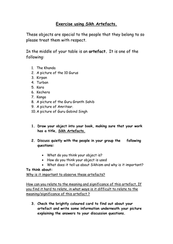 KS3 Sikhism activities and worksheets by xh27 - Teaching Resources ...