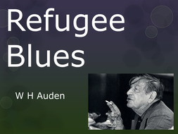 Who wrote refugee blues essay