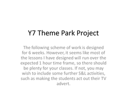 Theme Park Project By Kirstychapman Teaching Resources Tes