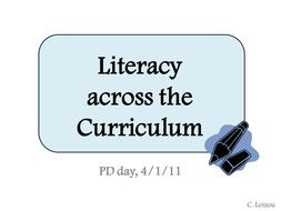 Whole school literacy