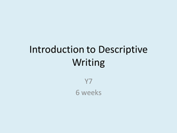 introduction to descriptive writing for y by kirstychapman  introduction to descriptive writing pptx