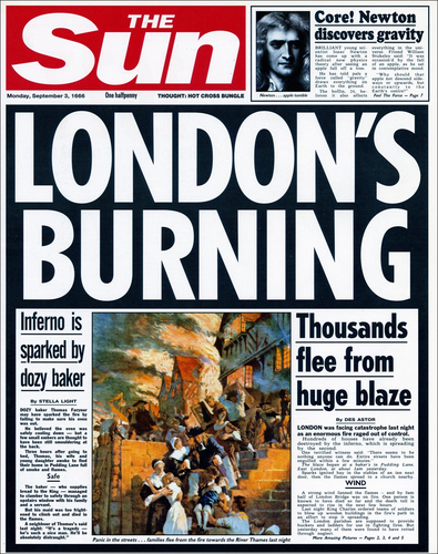 Great Fire Of London Newspaper Report Writing By Carlfarrant88