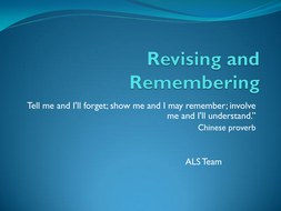 Exam Preparation 2: Revising and Remembering