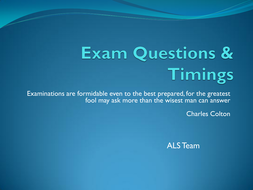 Exam Questions & Timings.pdf