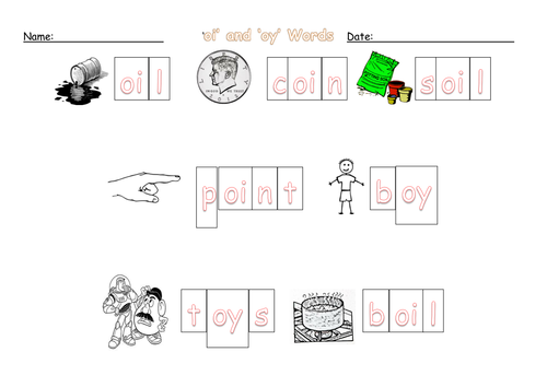oi digraph worksheets by barang Teaching Resources TES – Oi Oy Worksheets
