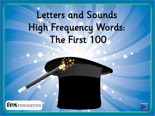Magician's Hat - First 100 High Frequency Words by tesSpecialNeeds ...