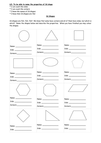 2d shape properties sheet by traceyweikimlow teaching resources tes. Black Bedroom Furniture Sets. Home Design Ideas