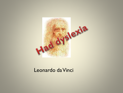 Famous People with Dyslexia - PowerPoint