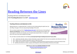 Inference And Deduction Reading Between The Lines By