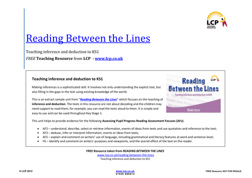 Inference and deduction Reading Between the Lines by – Inference Worksheets High School