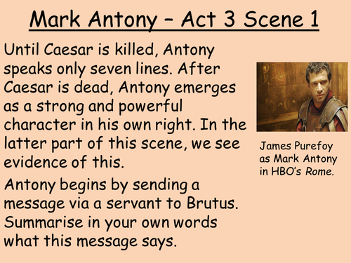 an analysis of mark anthonys speech in julius caesar