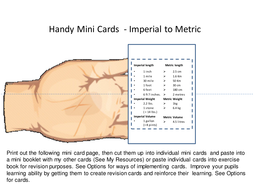 Mini Card and A5 size - Metric Measures