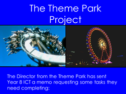 The theme park project by samoliver368 teaching resources tes lesson one introduction logo and posterppt toneelgroepblik Images