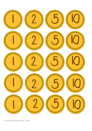 Pirate Coins Doubloon Roleplay or Maths by PrintPlayLearn   Teaching