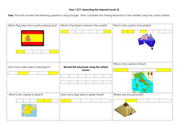 Year 7 Searching Task 1.docx