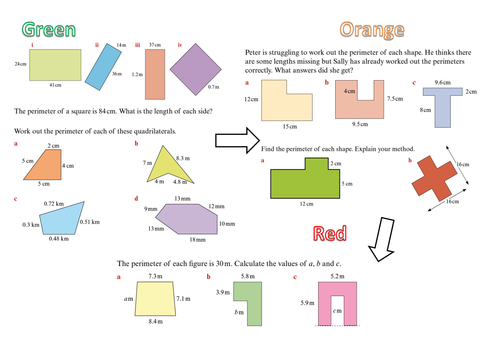 Area and Perimeter by bballard Teaching Resources TES – Perimeter Worksheet