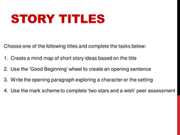 Creative Writing: Story Titles