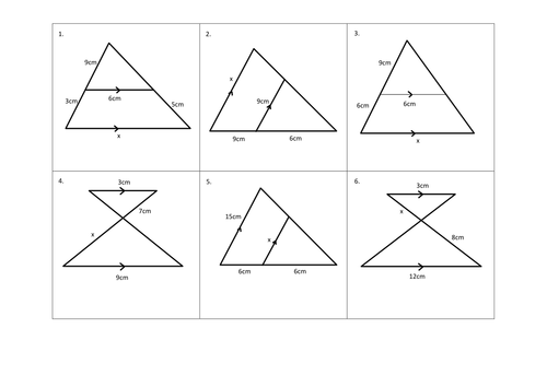 Worksheets Similar Triangles Worksheet similar triangles matching task by cturner16 teaching resources docx preview resource