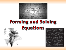Forming And Solving Equations By Owen134866 Teaching Resources Tes