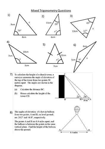 Right Angled Trigonometry In 2d Resources Tes