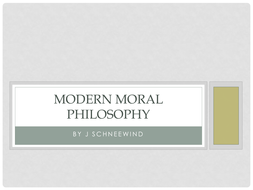 Modern Moral Philosophy by Schneewind